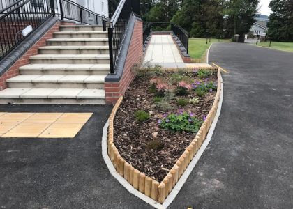 Cartref Croeso entrance flower bed