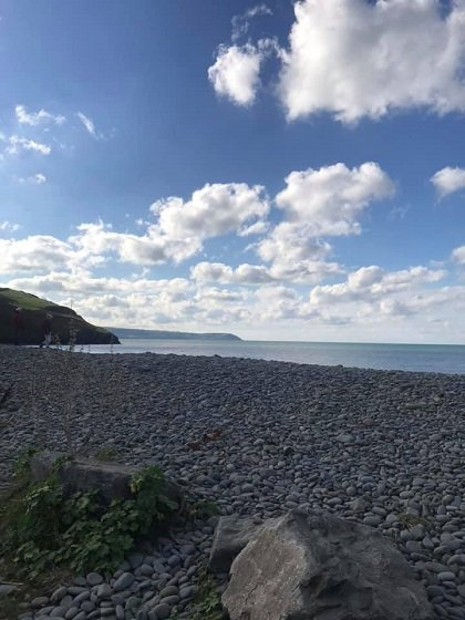 The beach at Aberaeron - Day Trip from Cartref Croeso Care Home