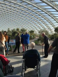 Inside the glasshouse - Trip to Botanical Gardens - Residents of Cartref Croeso Care Home